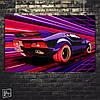 Постер Авто, Ретровейв, Retrowave (60x96см)