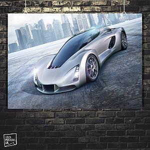 Постер Авто, суперкар, концепт. Размер 60x42см (A2). Глянцевая бумага