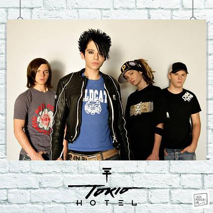 Постер Tokio Hotel. Размер 60x42см (A2). Глянцевая бумага, фото 2