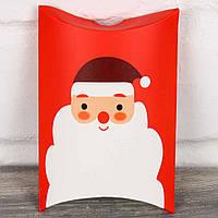 Подарочная новогодняя коробка - пирожок 1801792-21 (140*100*30 мм) 12 шт. в упаковке