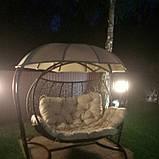Садова гойдалка кокон підвісна бежева, фото 6