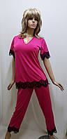Пижама с брюками микромасло большого размера 295, фото 1