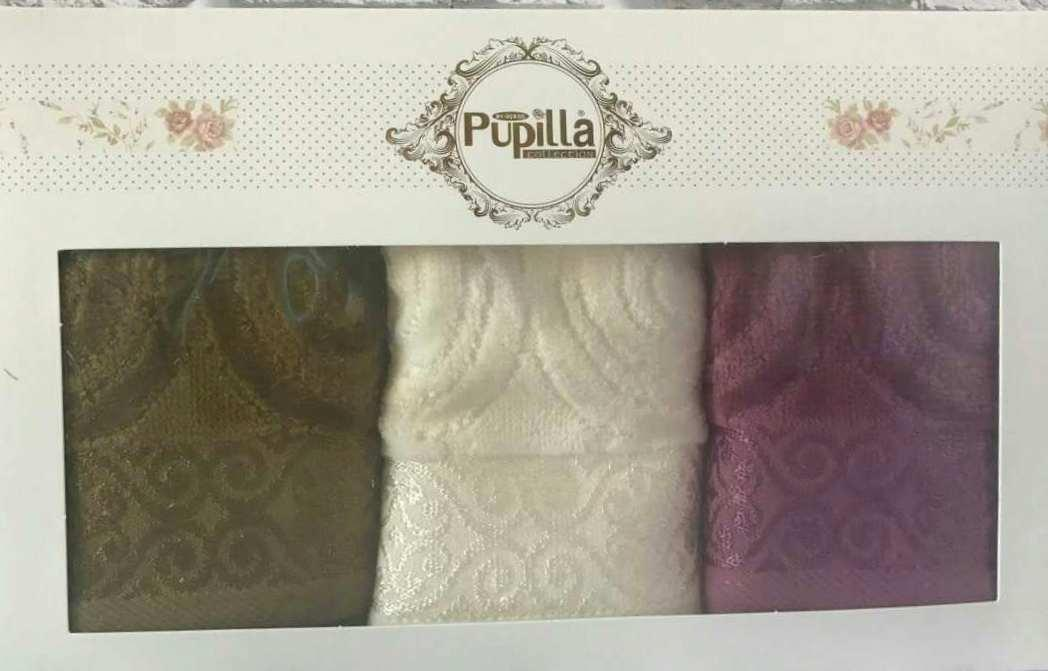 Набор велюровых полотенец в подарочной упаковке 30*50 см (100 % хлопок) Puppila, Турция 3 шт./уп.