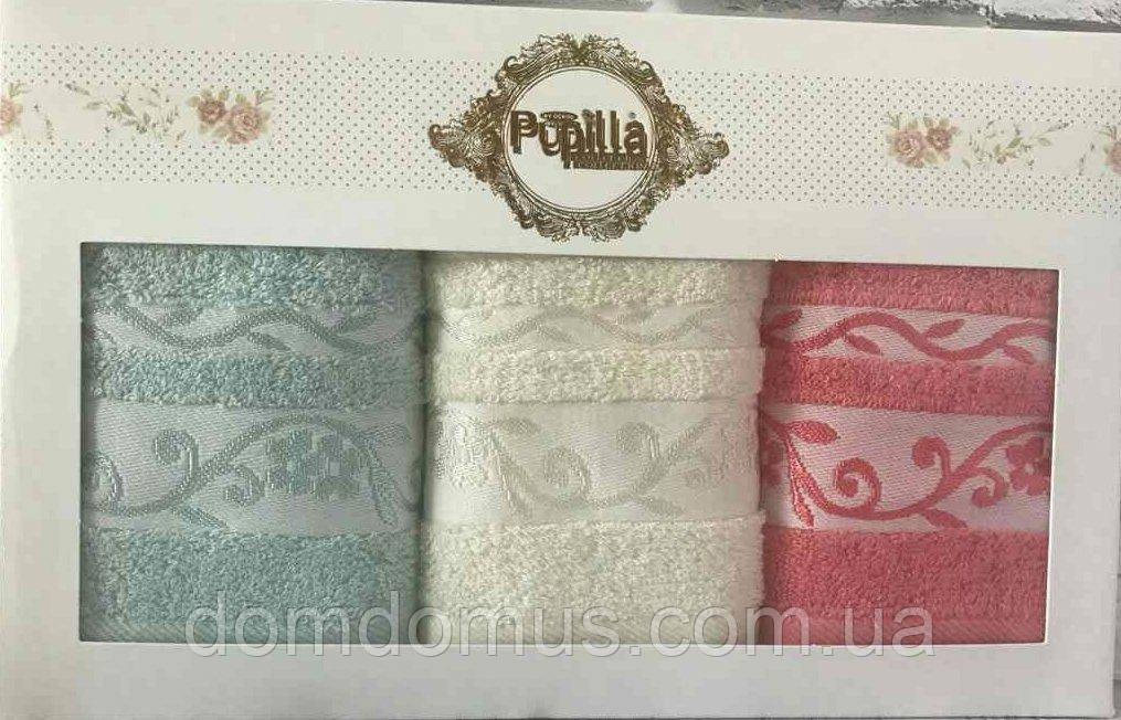 Набор полотенец в подарочной упаковке 30*50 см (100 % бамбук) Puppila, Турция 7022