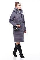 Зимнее пальто цвет антрацит с песцом большие и маленькие размеры от 48 до 60, фото 2