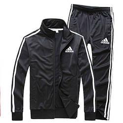 Чорний демісезонний тренувальний костюм Adidas (Адідас)