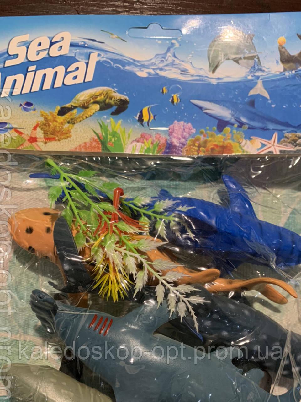 Фигурки морские обитатели игровой набор 6шт большие