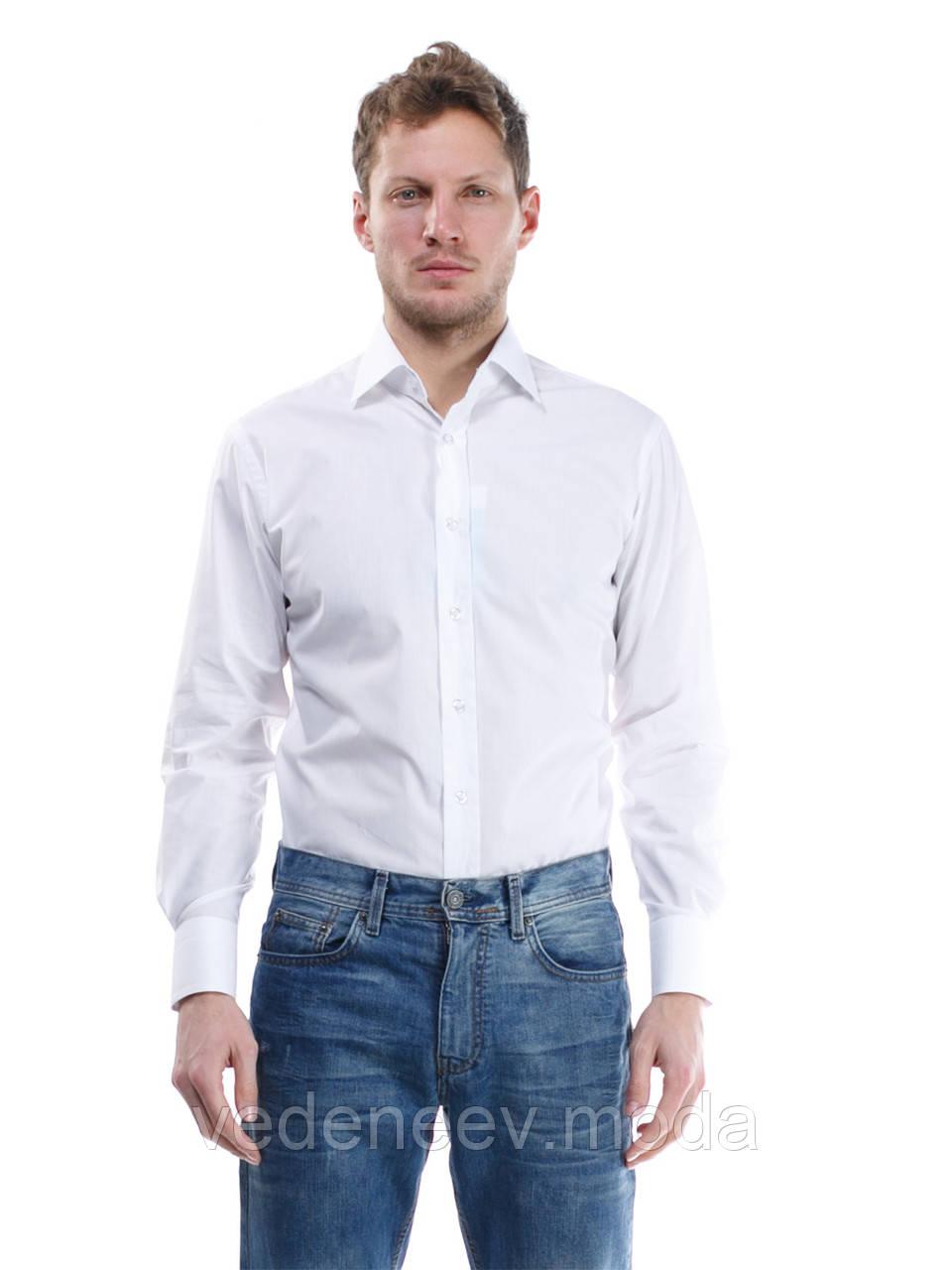 e36a5e230aa Белая приталенная мужская рубашка - Мужские и женские РУБАШКИ для ВСЕХ.