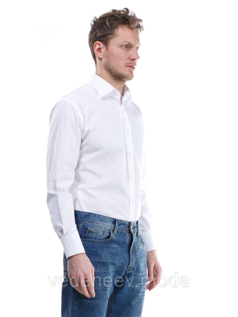 8e72c267be4 Белая приталенная мужская рубашка
