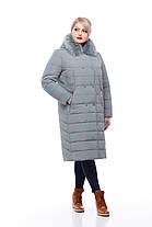 Зимнее пальто цвет фисташкас песцом большие размеры от 48 до 60, фото 3