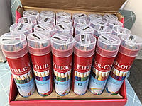 Цветные карандаши в металическом тубусе на 12 цв. Fiber colour