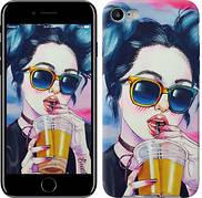 "Чехол на iPhone 7 Арт-девушка в очках ""3994c-336-5948"""