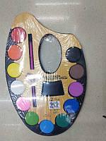 Акварель сухая 12 цветов «Палитра» пластик 22×15 см акварельная краска