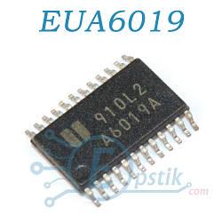EUA6019, стереофонический усилитель с контролем громкости, 3Вт, TSSOP24