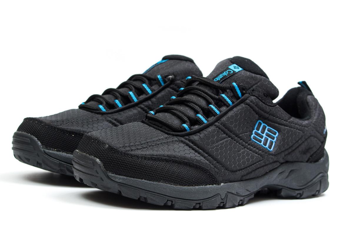 Зимние мужские кроссовки Columbia Omni-Grip (Коламбия Омни-Грип) черные с  синим a0a98f5a543