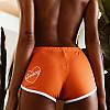 Женские короткие шорты для фитнеса, Honey (с сердечком), оранжевые