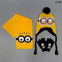 Теплый набор Minion для мальчика. 48-54 см, фото 1