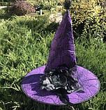 Шляпа карнавальная с розой и пером Цвета разные, фото 4