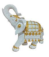 Садовая фигурка Слон индийский белый 25 см