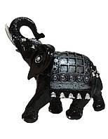 Садовая фигурка Слон индийский черный 25 см