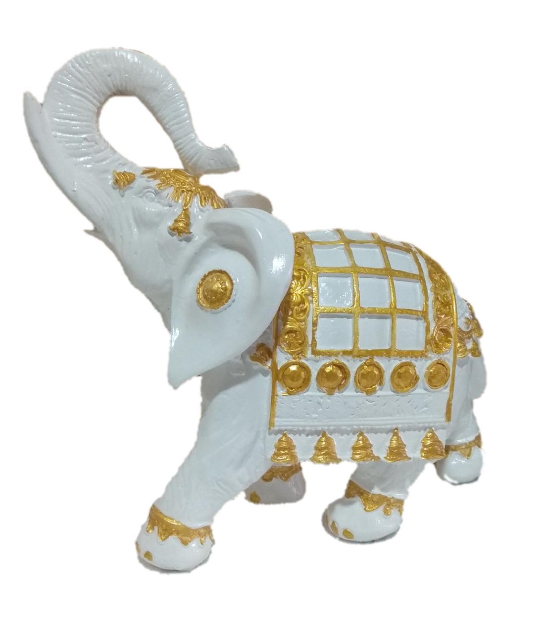 Статуэтка Слон индийский белый 25 см