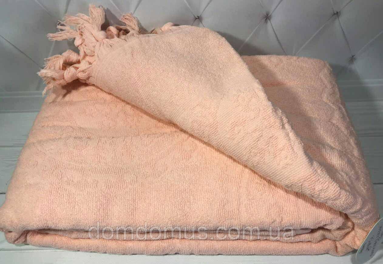 Простынь жаккардовая SWEET DREAMS, персиковый 200*220 см, Турция