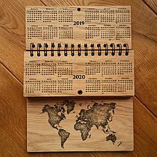 """Деревянный календарь """"Карта Мира"""""""