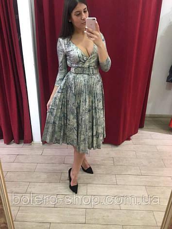Женское платье миди  с  рукавом Италия, фото 2