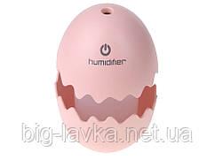 Парообразователь увлажнитель Humidifier Sunroz Egg с Led подсветкой  Розовый
