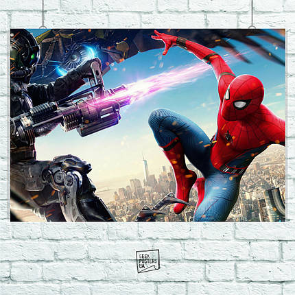 Постер Spider-Man Homecoming. Размер 60x42см (A2). Глянцевая бумага, фото 2