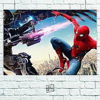 Постер Spider-Man Homecoming. Размер 60x42см (A2). Глянцевая бумага
