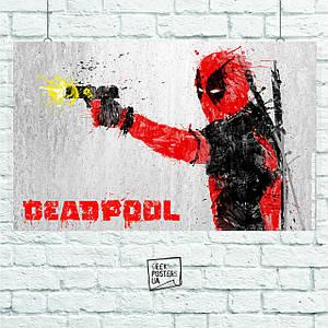 Постер Deadpool (Art). Размер 60x42см (A2). Глянцевая бумага