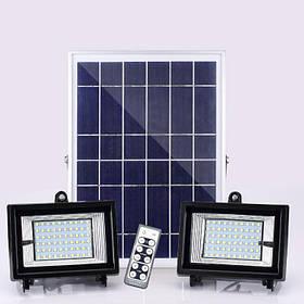 Прожектор двойной на солнечной батарее SL383В 2х24W IP65 Код.59374
