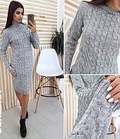 Женский длинный облегающий свитер-платье, фото 1