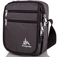 Сумка спортивная Onepolar Мужская спортивная сумка ONEPOLAR (ВАНПОЛАР) W5633-grey