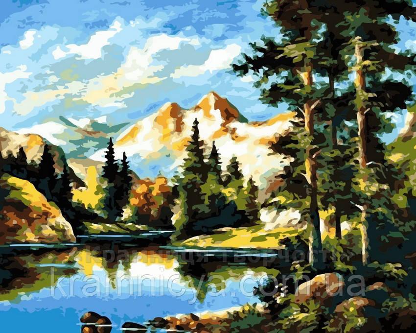 Картина по номерам 40x50 Горный пейзаж