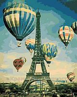 Картина по номерам 40x50 см, Воздушные шары над Парижем, фото 1
