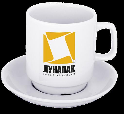Нанесение лого на чашку с блюдцем, фото 2