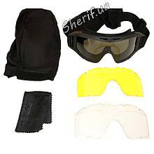 Очки-маска  тактические черные Revision Black 2123 (BE0718UA)