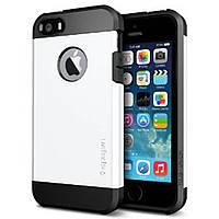 Чехол-накладка SGP Tough Armor для Apple iPhone 5S/5 белый, чёрный (SGP10493)