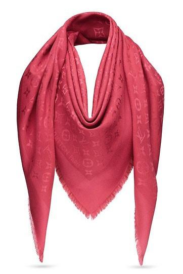 Женский платок Louis Vuitton Monogram (в стиле Луи Витон) темно-красный b305705f32e