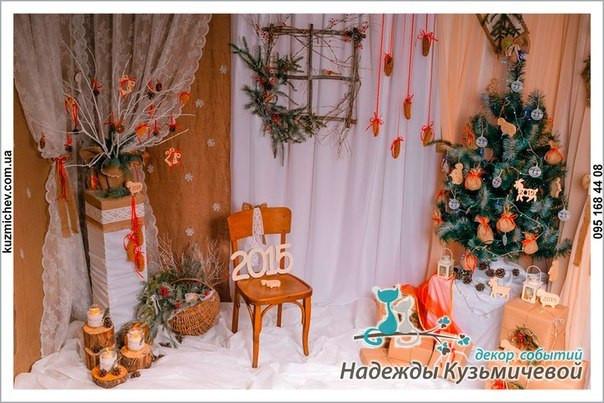 Наш новогодний декор в стиле рустик для новогодних фотосессий.