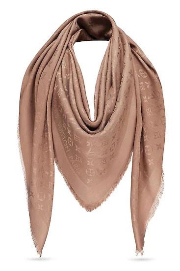 Женский Платок Louis Vuitton Monogram (в Стиле Луи Витон) Капучино ... 300d91067fb