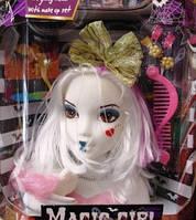 """Голова Куклы манекен для причесок W0020-1/3  """"Monster High"""" 2 вида,с заколками,расческой,животные"""