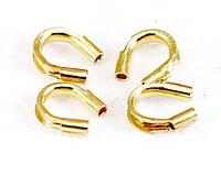 Протектор для защиты ювелирного тросика (ланки) золото 5 мм (вес 4 г)