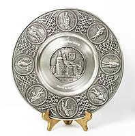 Тарелка оловянная, олово, Германия, 26 см