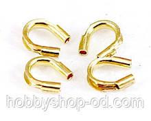 Протектор для защиты ювелирного тросика (ланки) золото 6 мм (вес 4 г)