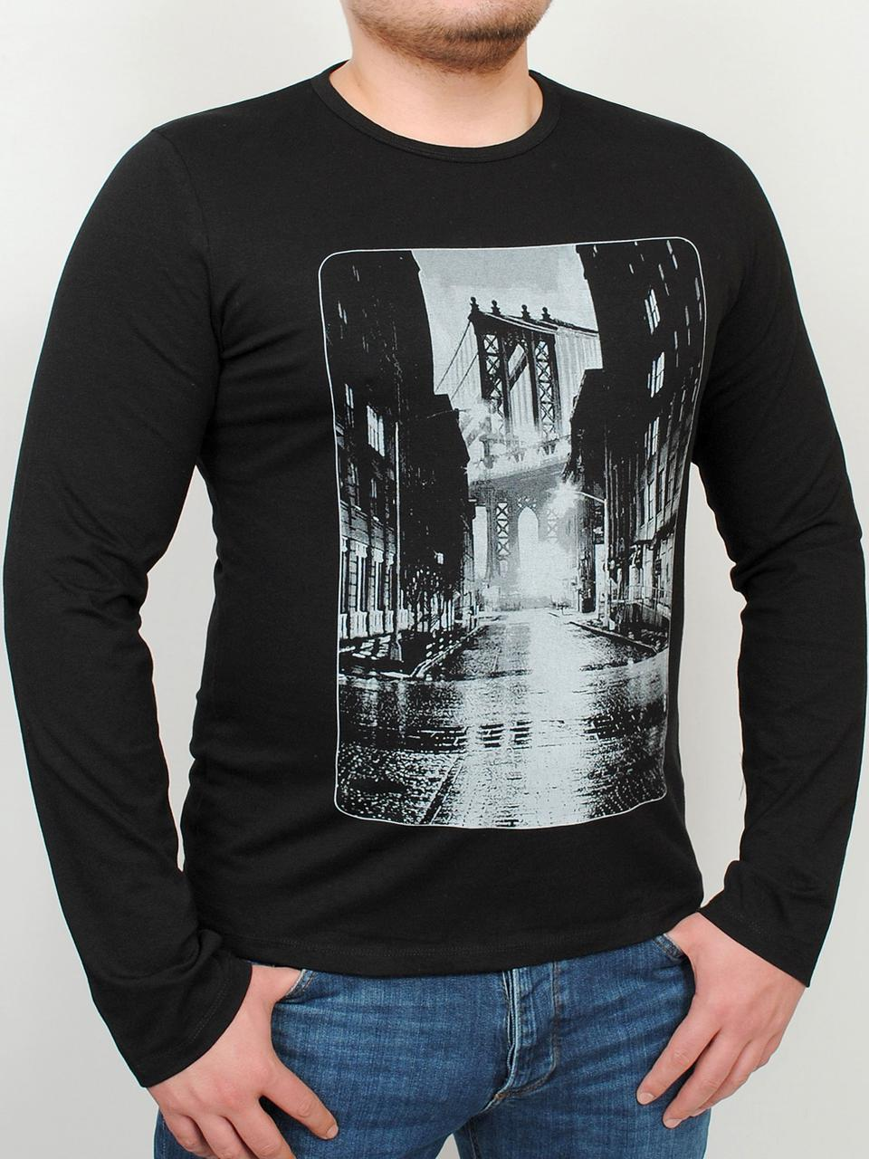 101cd914bc436 BROOKLYN LONG футболка длинный рукав черный #R/A, цена 281,24 грн ...