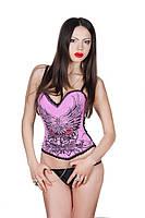 Женский корсет LEAKSA.. Розовый корсет в готическом стиле K1504