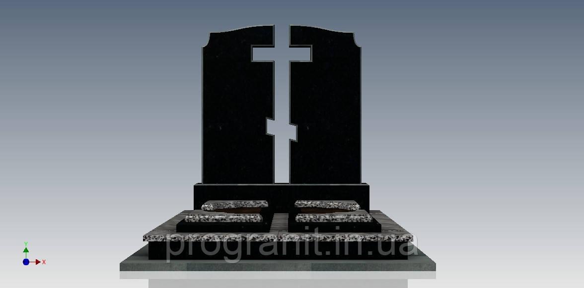 Памятник двойной с воздушным крестом